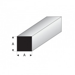 profilé blanc styrène carré plein
