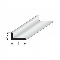 Profilé blanc Styrène en L
