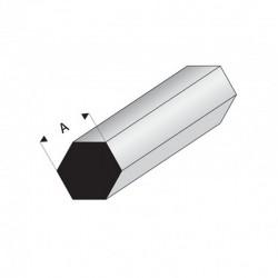 profilé styrène hexagonal